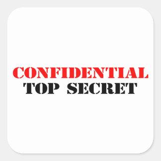 Confidential Square Sticker