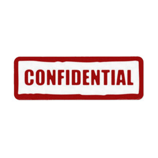 Confidential Stickers
