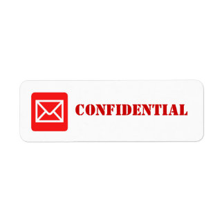 Confidential Top Secret Warning Label