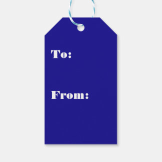 Confidently Clever Blue Color Pack Of Gift Tags