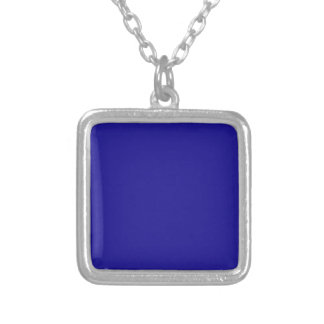 Confidently Clever Blue Color Silver Plated Necklace