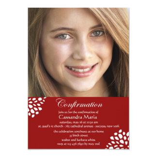 Confirmation Calligraphy Photo Invitation
