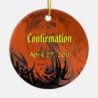 Confirmation (dancing flames) ceramic ornament