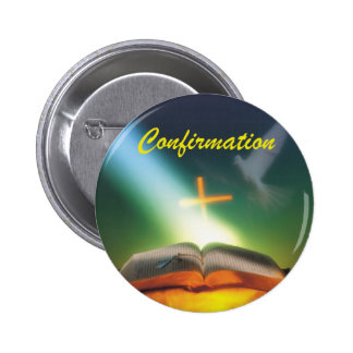 Confirmation Dove, Bible, Cross 2 Inch Round Button