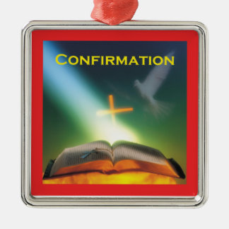 Confirmation Dove, Bible, Cross Metal Ornament