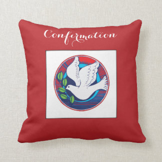 Confirmation, Dove Colorful, Pillow, Gift Pillow