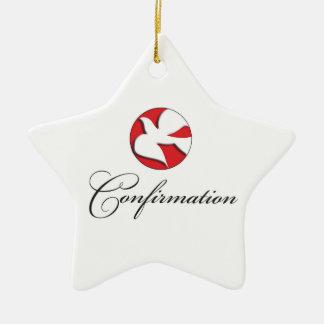 Confirmation, Dove, Gift Items Ceramic Star Ornament