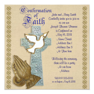 Confirmation Invitation Celtic cross