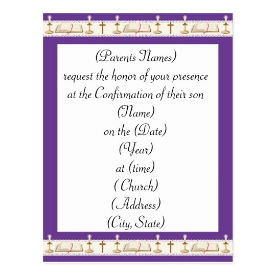 Confirmation Invitation Postcard