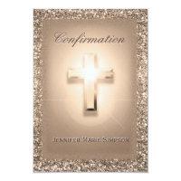 Baptism invitations zazzle ca confirmation pale rose cross rsvp card templates stopboris Gallery