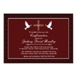 Confirmation White Dove Invitation