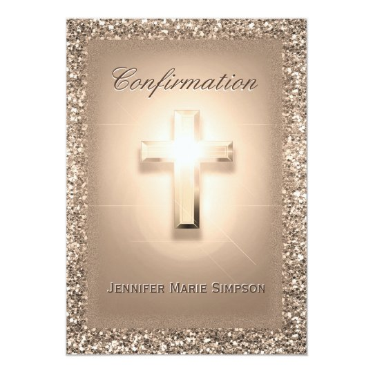Confirmation with Glowing Cross Card