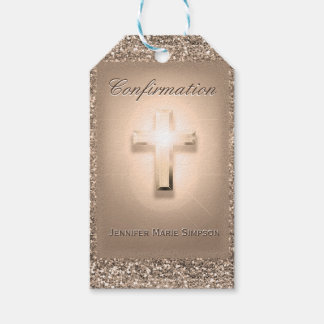 Confirmation with Glowing Cross Pack Of Gift Tags