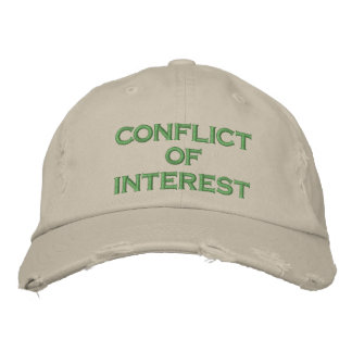 conflict of interest embroidered hats