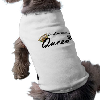 Conformation Queen Lime Green Dog Shirt