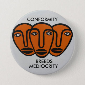 Conformity 2 3 inch round button