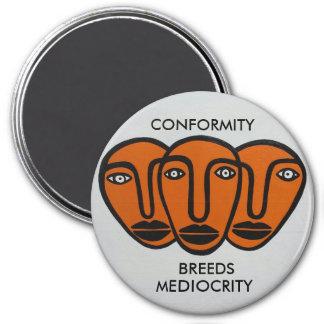 Conformity 2 3 inch round magnet