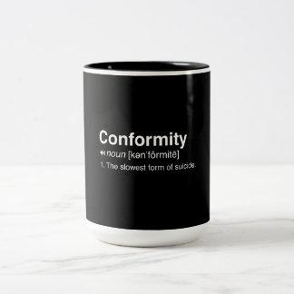 Conformity Definition Two-Tone Coffee Mug