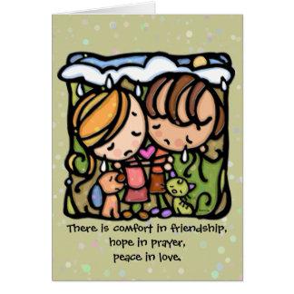 Confort dans l'amitié. Espoir dans la prière. Paix Carte