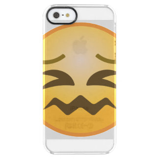 Confounded Emoji Clear iPhone SE/5/5s Case