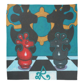 CONFRONTING MY DEMONS SQUARE SCARF KERCHIEFS
