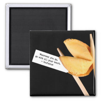 Confucius fortune cookie magnet
