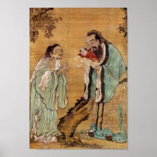 Confucius, Lao Tzu, and Buddha Poster