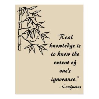Confucius Quote Postcard