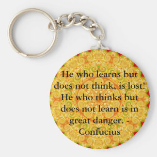 Confucius Quote  -  wearable wisdom Basic Round Button Keychain