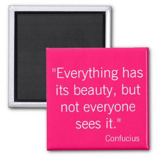 Confucius Square Magnet