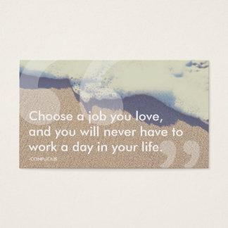 confucius success quote business card