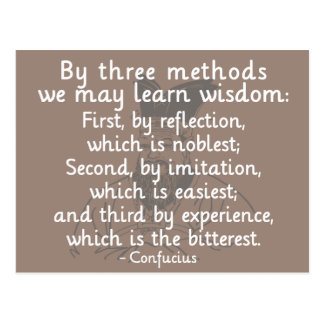 Confucius - Three methods to learn wisdom Postcard