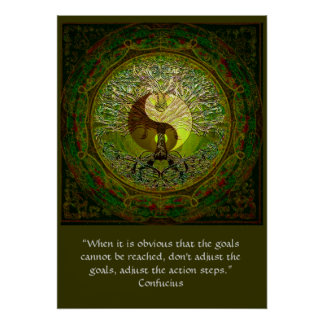 Confucius - When the goals cannot be reached Poster