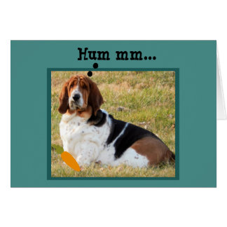Confused Basset Hound Looking for Easter Bunny Card