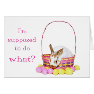 Confused Easter Bunny Card