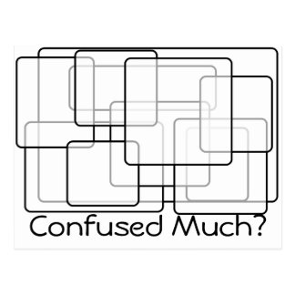 Confused Much? Postcard