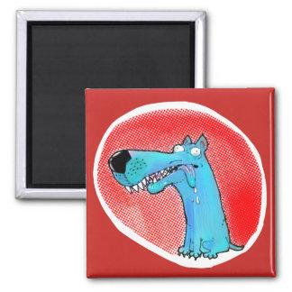 confused stupid dog funny cartoon magnet