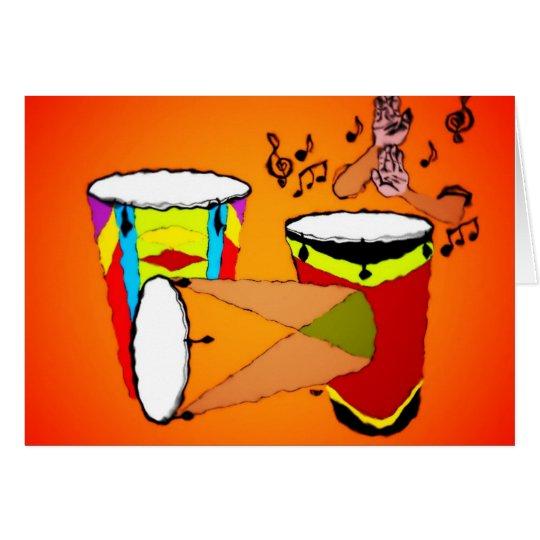 Conga Drums Card