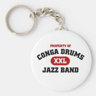 Conga Drums xxl Jazz band Keychain
