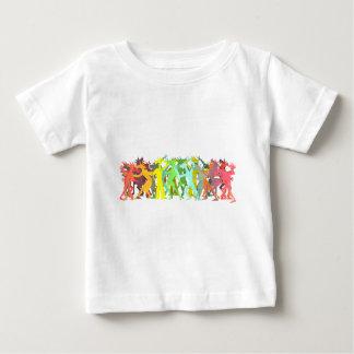 Conga Line Unicorns Baby T-Shirt
