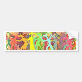 Conga Line Unicorns Bumper Sticker