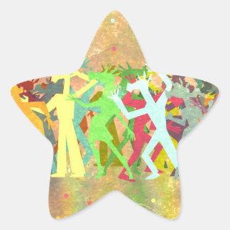Conga Line Unicorns Star Sticker