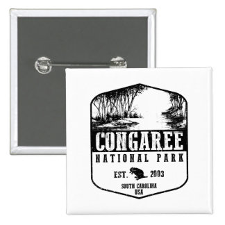 Congaree National Park 2 Inch Square Button