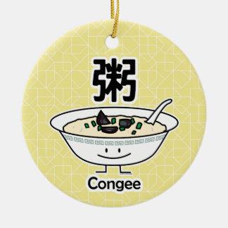 Congee Jook Rice porridge gruel bowl Chinese break Ceramic Ornament