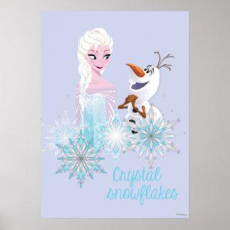 | congelé Elsa et Olaf Poster