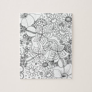 Conglomeration of Flowers Jigsaw Puzzle