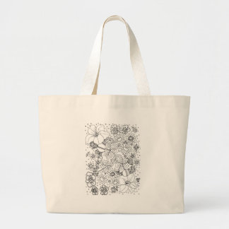 Conglomeration of Flowers Large Tote Bag