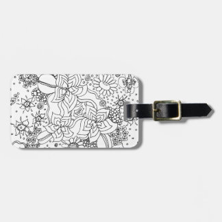 Conglomeration of Flowers Luggage Tag