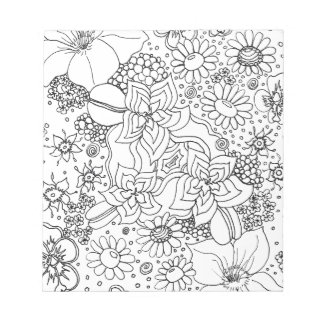 Conglomeration of Flowers Notepad