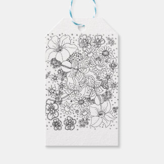 Conglomeration of Flowers Pack Of Gift Tags